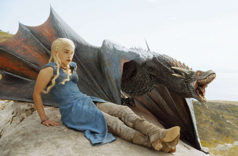 Daenerys Targaryen (Emilia Clarke) is starting to realize that not even a mother can tame the wild savagery out of dragon offspring. Photo: HBO / San Antonio Express-News