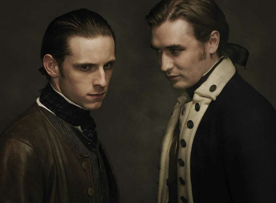 """Jamie Bell and Seth Numrich portray members of America's first spy ring in """"Turn,"""" a drama set during the Revolutionary War. Photo: AMC / © AMC Film Holdings LLC."""