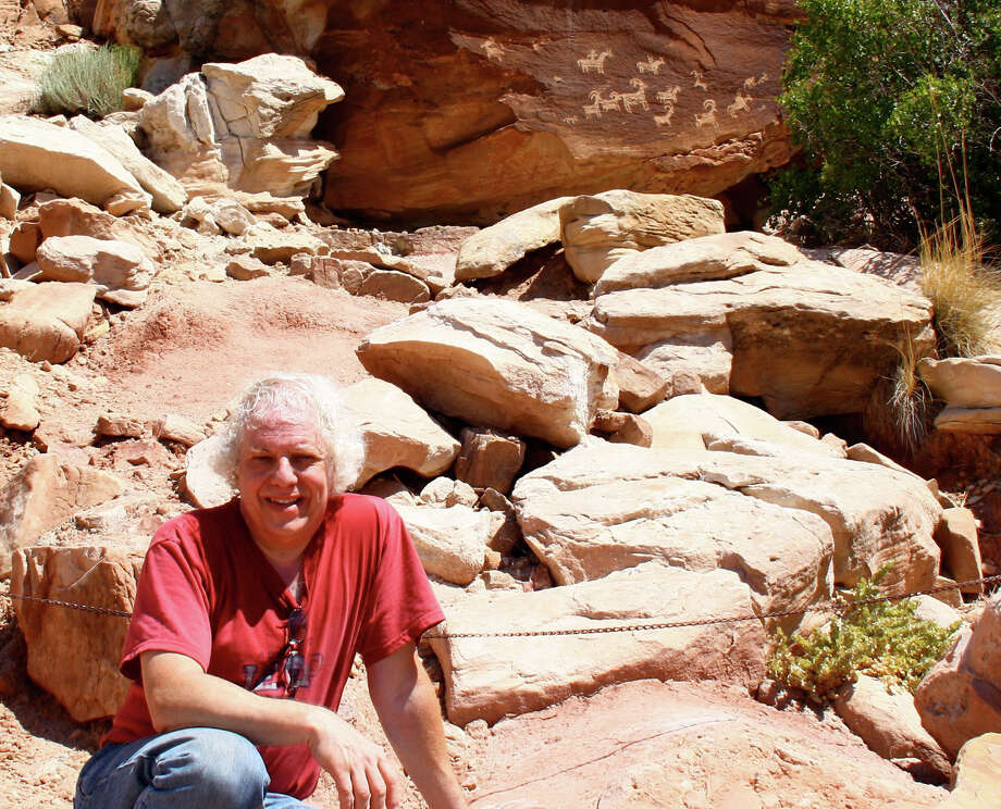 "Dr. Kenneth Feder, an archaeologist, is shown on a desert site in Moab, Utah. He will present a program on ""Frauds, Myths and Mysteries"" Sunday, April 13, at the Barnum Museum. Photo: Contributed Photo, Contributed Photo / Connecticut Post Contributed"