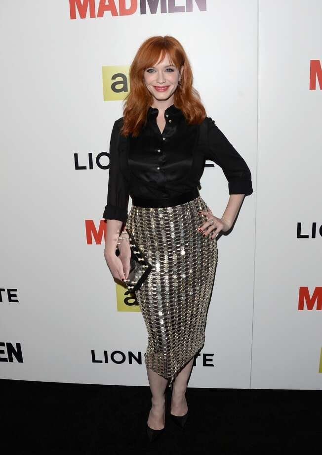 "Actress Christina Hendricks at the ""Mad Men"" premiere in April 2014.  Photo: Jason Merritt, Getty Images"