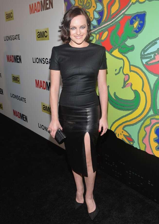 "Elisabeth Moss at the ""Mad Men"" Season 7 premiere on April 2, 2014. Photo: Alberto E. Rodriguez, Getty Images"