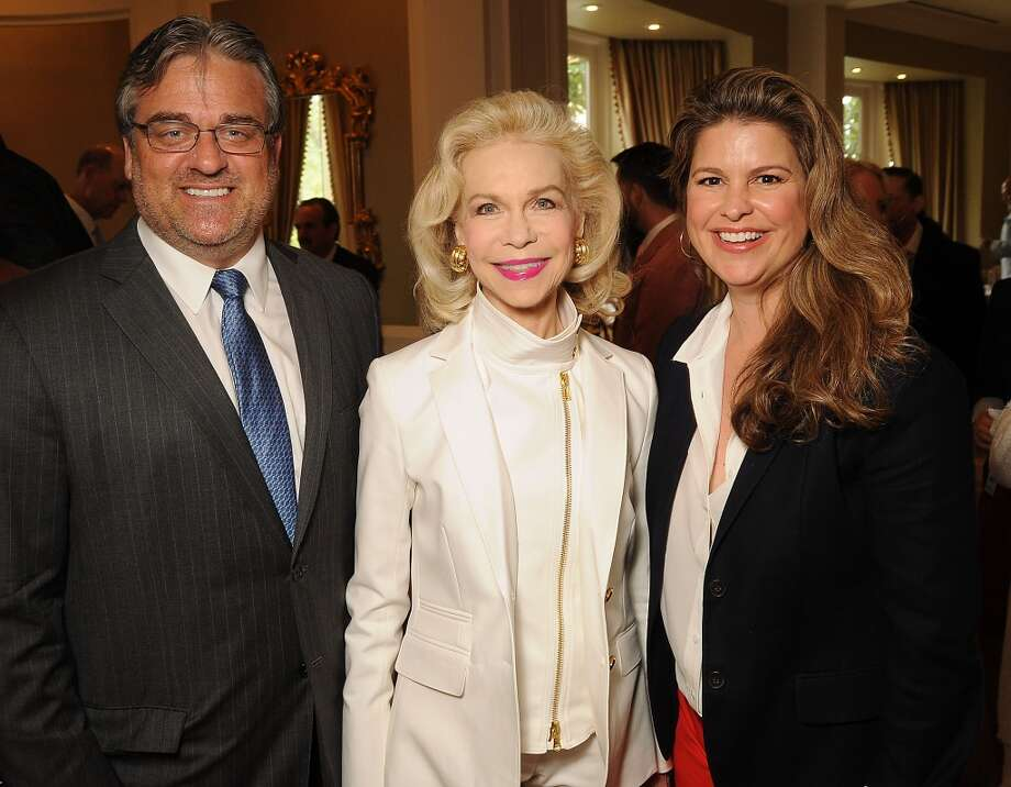 From left: Greg Davis, honoree Lynn Wyatt and I Am Waters founder Elena Davis Photo: Dave Rossman, For The Houston Chronicle