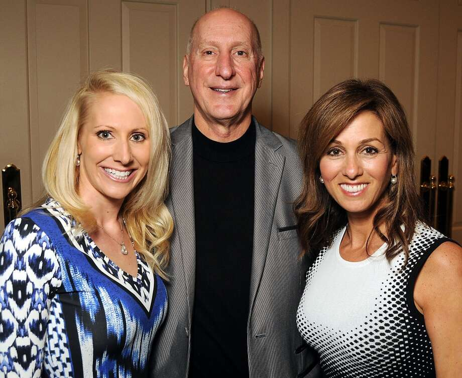From left: Laurie and Tracy Krohn with emcee Janet Shamlian Photo: Dave Rossman, For The Houston Chronicle