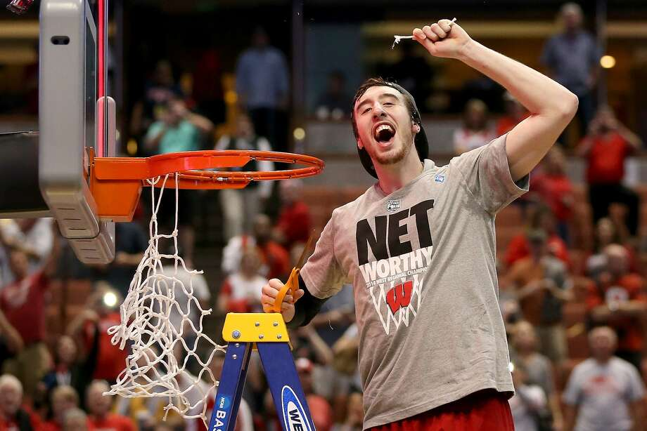 Frank Kaminsky, a 7-foot center, is known for his lighter side, but has been a serious boon to Wisconsin's title hopes. Photo: Jeff Gross, Getty Images