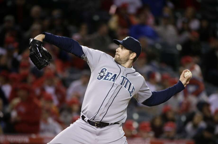 Paxton packs a punchWho knew Seattle's best pitcher in the first three games would be not Felix Hernandez but James Paxton? On Wednesday, he threw 7 scoreless innings and gave up just 2 hits to the Angels while collecting 9 strikeouts. Paxton became the second-ever major league pitcher to start his career either 4-0 or 5-0 in his first five starts (including the end of last season). Photo: Jae C. Hong, Associated Press