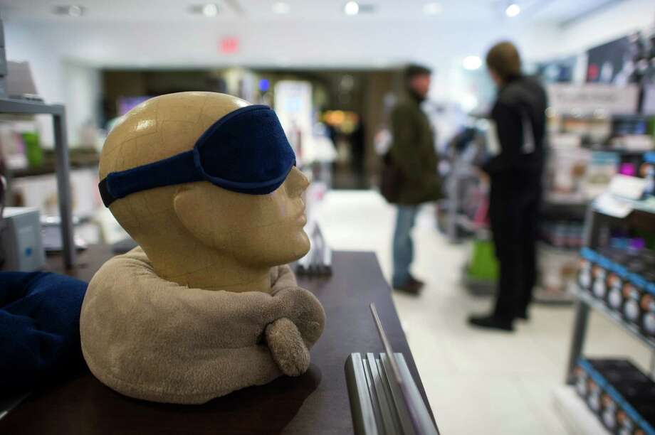 An eye mask is for sale at a Brookstone store in New York's Rockefeller Center. Photo: Craig Warga / © 2014 Bloomberg Finance LP