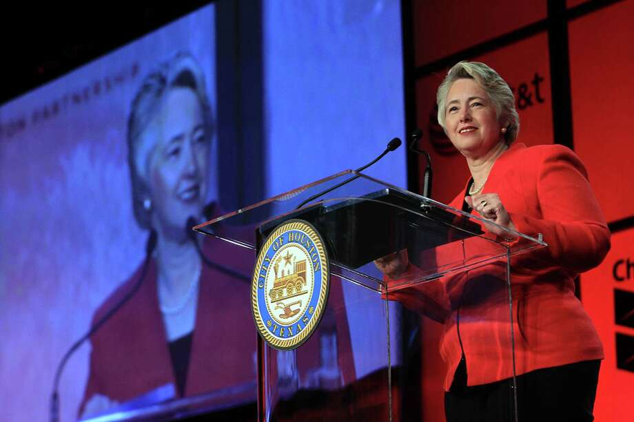 "Mayor Annise Parker on Thursday said risking Houston's international reputation is ""never a reason not to do things"" such as creating a human rights commission to investigate anti-discrimination law violations. Photo: Mayra Beltran, Staff / © 2014 Houston Chronicle"
