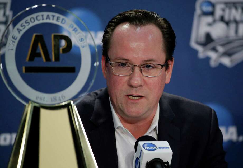 Wichita State's head coach Gregg Marshall speaks at a news conference Thursday, April 3, 2014, in Dallas. Marshall was named the AP College Basketball Coach of the Year. (AP Photo/David J. Phillip)  ORG XMIT: FF133 Photo: David J. Phillip / AP