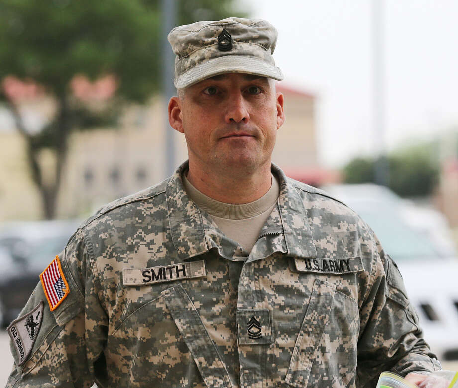Army 1st Sgt. Richard A. Smith, 45, pleaded guilty to several specifications in charges outlining misconduct with the three women — a sergeant, a corporal and a specialist. Photo: Jerry Lara / San Antonio Express-News / © 2014 San Antonio Express-News