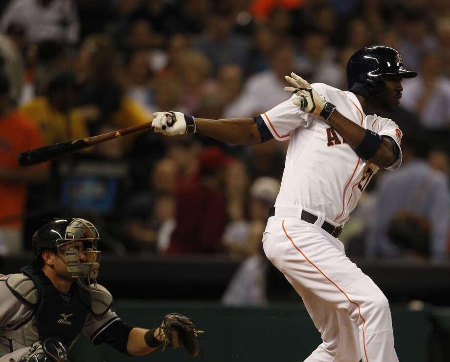 April 3: Yankees 4, Astros 2Astros center fielder Dexter Fowler at bat. Photo: Karen Warren, Houston Chronicle