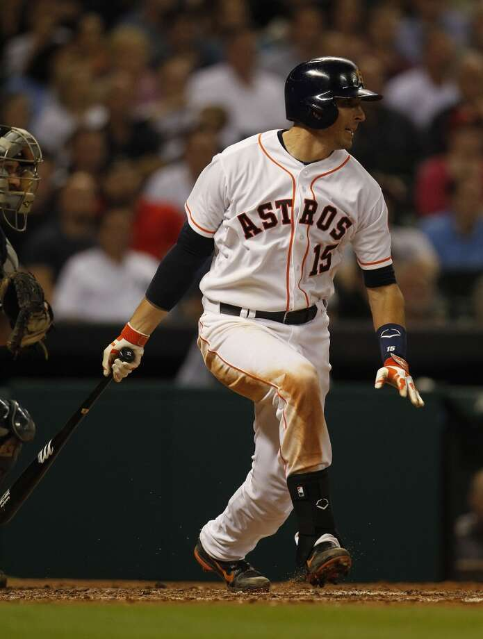 Astros catcher Jason Castro at bat. Photo: Karen Warren, Houston Chronicle