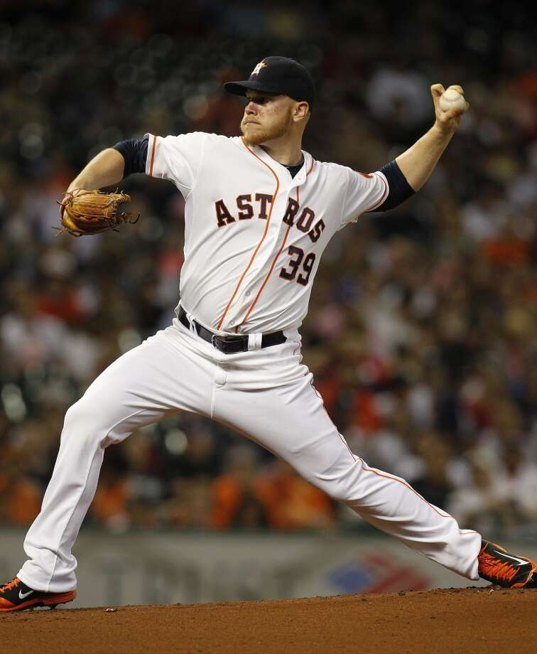 Astros starting pitcher Brett Oberholtzer pitches. Photo: Karen Warren, Houston Chronicle