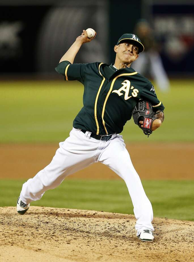 After several years as a reliever, A's right-hander Jesse Chavez has finally earned a spot in a big-league rotation at age 30. Photo: Beck Diefenbach, Associated Press