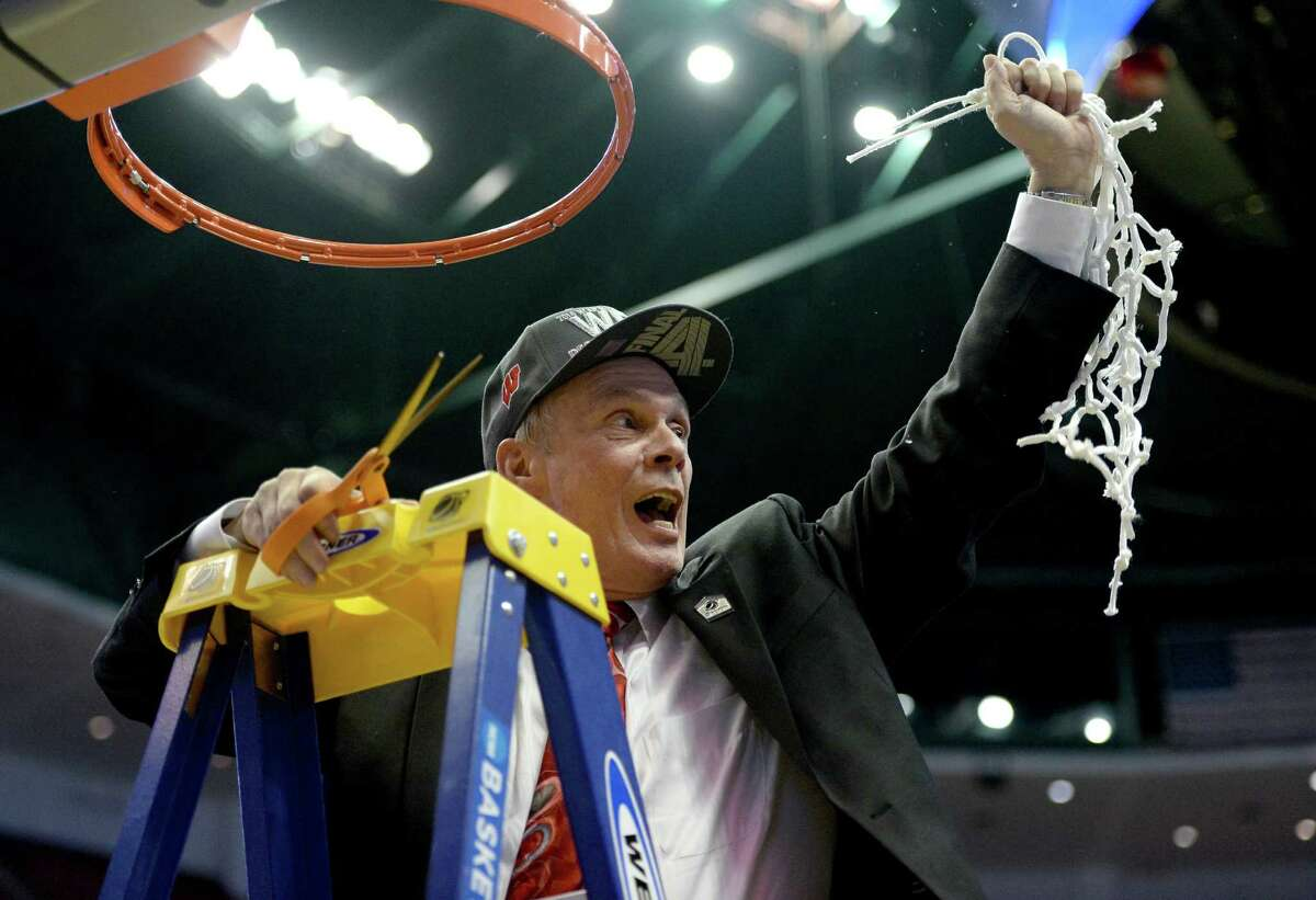 Bo finally knows the Final Four: Veteran Wisconsin coach Bo Ryan knew he needed a little more offense for this team to reach its potential. These Badgers are averaging more points than any other team in Ryan's 13-season tenure at the school and are the first group the coach has taken to the Final Four during his 30-year career. He did win four Division III national titles at Wisconsin-Platteville, but his trip to Arlington will be a career pinnacle for the crusty 66-year-old. PHOTO: Ryan celebrates after he cuts down the net after defeating the Arizona Wildcats 64-63 in overtime during the West Regional Final of the 2014 NCAA Men's Basketball Tournament at the Honda Center on March 29, 2014, in Anaheim, Calif.