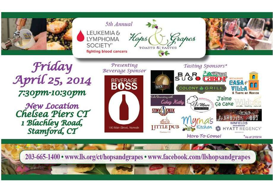 Toast to finding a cure for lymphoma and leukemia as the Connecticut 