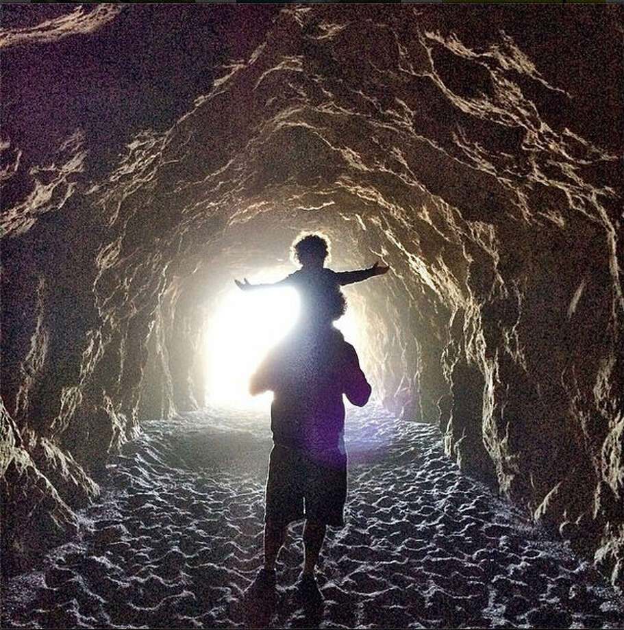 Now that spring's arrive, there are more opportunities for families to explore the parks and nature around San Francisco. April S., who goes by @aprildstorm on Instagram, took this photo of father and son in the Sutro cave.