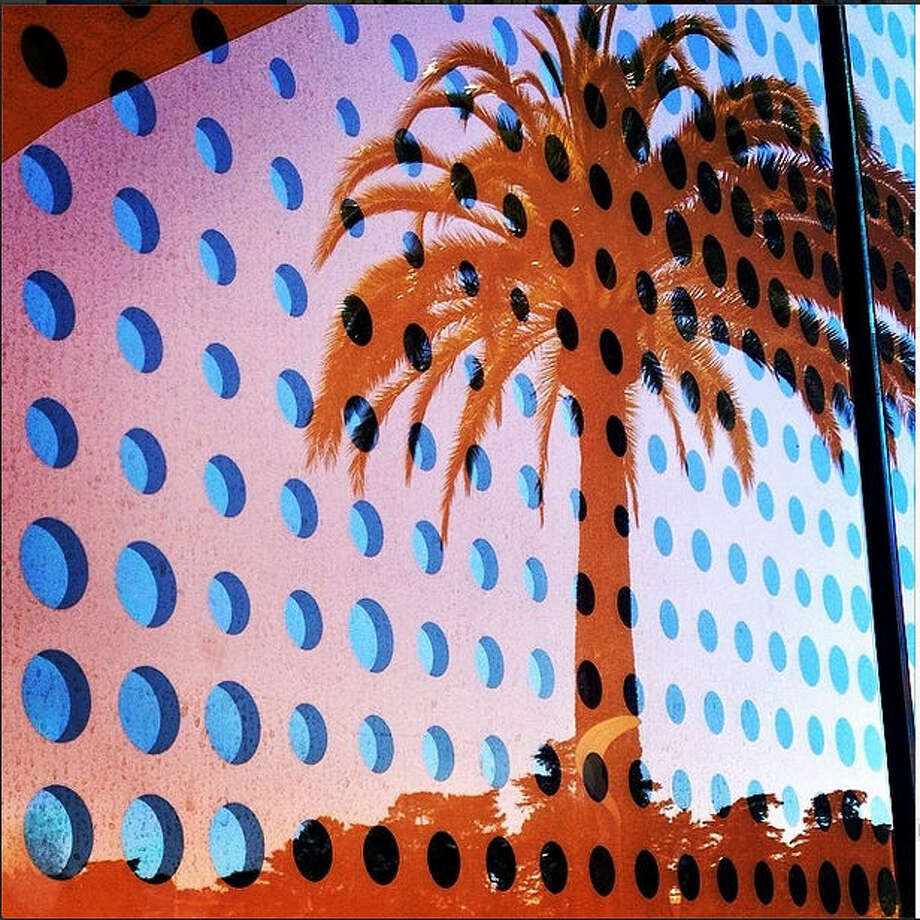 Another reason why spring is so awesome is that it means summer is around the corner. This photo by Melissa P., or @melips, took this photo of a palm tree reflected in the golden, polka-dotted entry way of the de Young Museum, capturing a tropic feel from the heart of San Francisco.