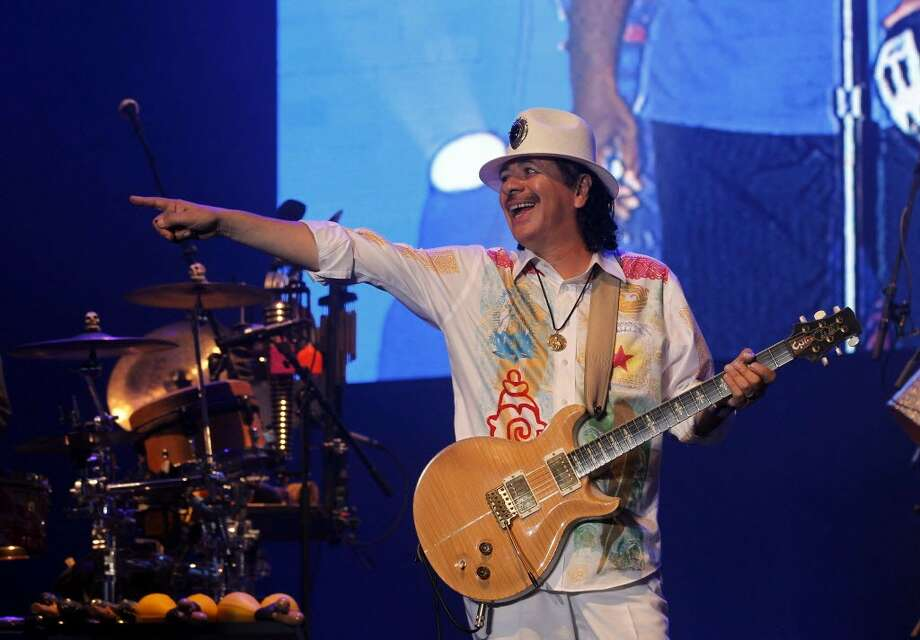 Carlos Santana is slated to perform at the Greenwich Town Party on May 24, 2014.