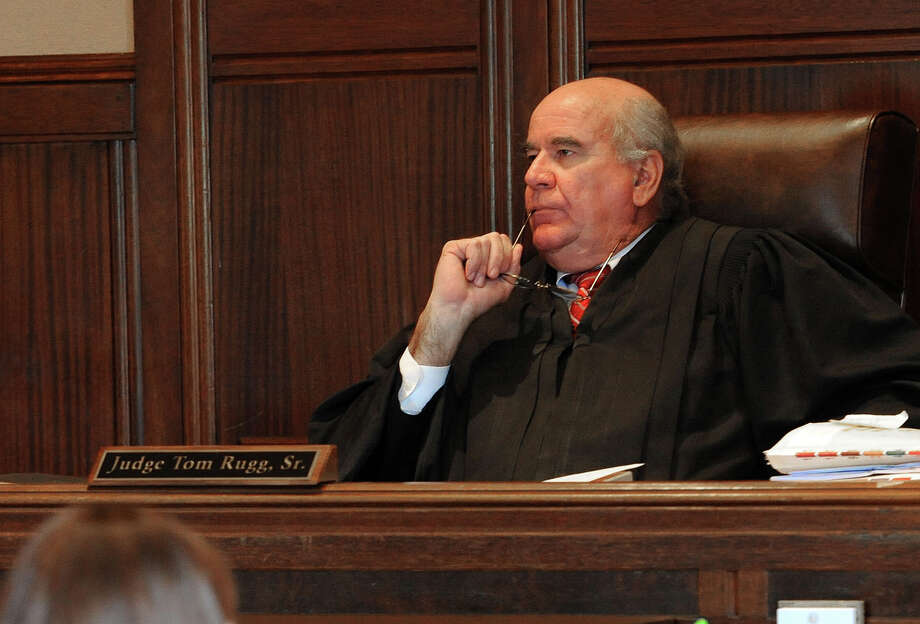 Judge Tom Rugg listens to arguments from TransCanada and area landowners regarding eminent domain. Photo taken Wednesday, September 12, 2012  Guiseppe Barranco/The Enterprise Photo: Guiseppe Barranco, STAFF PHOTOGRAPHER / The Beaumont Enterprise