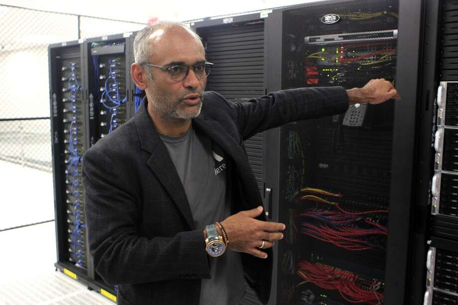 Aereo's server area in the data center is in a small cage. The servers receive the MP2 signal and transcode it into MP4 video. Photo: Johnny Hanson, Houston Chronicle