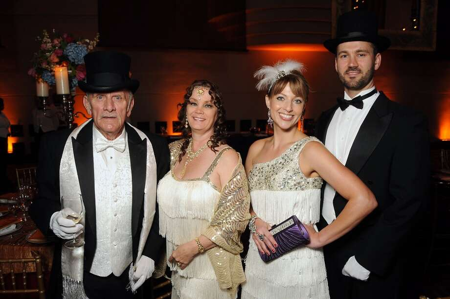 From left: Bill and Stacey Ensell with Chelley and Terry Weaver at the SPA's Forever Paris Gala at the Wortham Theater Saturday March 29, 2014.(Dave Rossman photo) Photo: Dave Rossman, For The Houston Chronicle