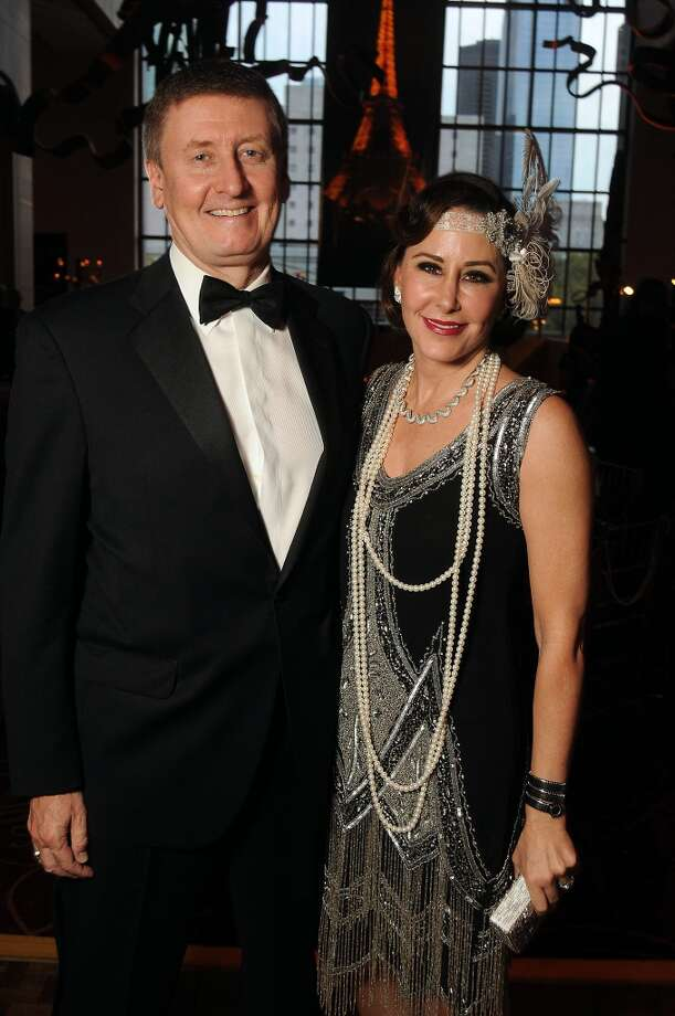 Liz and Tom Glanville at the SPA's Forever Paris Gala at the Wortham Theater Saturday March 29, 2014.(Dave Rossman photo) Photo: Dave Rossman, For The Houston Chronicle
