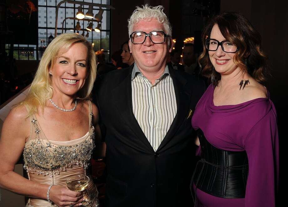 From left: Honorary chair Rosemary Schatzman with Tim Moloney and Rebekah Johnson at the SPA's Forever Paris Gala at the Wortham Theater Saturday March 29, 2014.(Dave Rossman photo) Photo: Dave Rossman, For The Houston Chronicle
