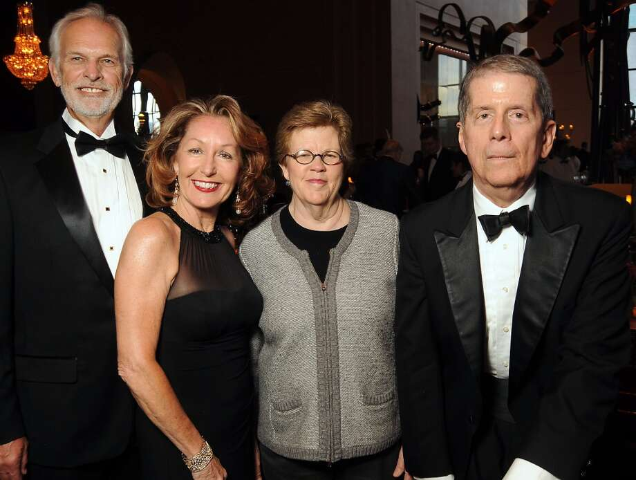 From left: Steve and June Christensen with Kathy Kilian and honoree Karl Kilian at the SPA's Forever Paris Gala at the Wortham Theater Saturday March 29, 2014.(Dave Rossman photo) Photo: Dave Rossman, For The Houston Chronicle