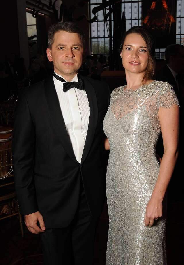 Natasha and Pavel Ilyasov at the SPA's Forever Paris Gala at the Wortham Theater Saturday March 29, 2014.(Dave Rossman photo) Photo: Dave Rossman, For The Houston Chronicle
