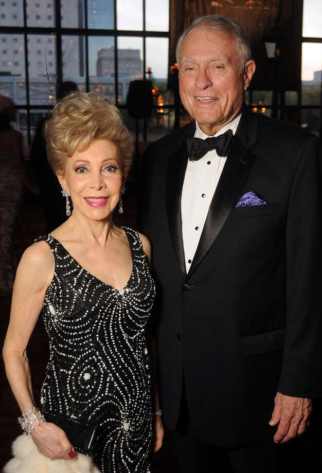 Margaret Alkek Williams and Jim Daniel at the SPA's Forever Paris Gala at the Wortham Theater Saturday March 29, 2014.(Dave Rossman photo) Photo: Dave Rossman, For The Houston Chronicle