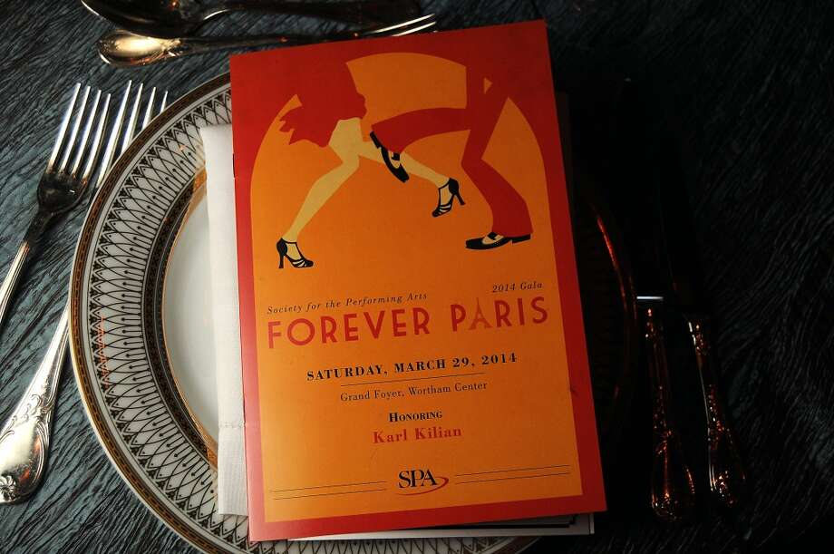The program at the SPA's Forever Paris Gala at the Wortham Theater Saturday March 29, 2014.(Dave Rossman photo) Photo: Dave Rossman, For The Houston Chronicle