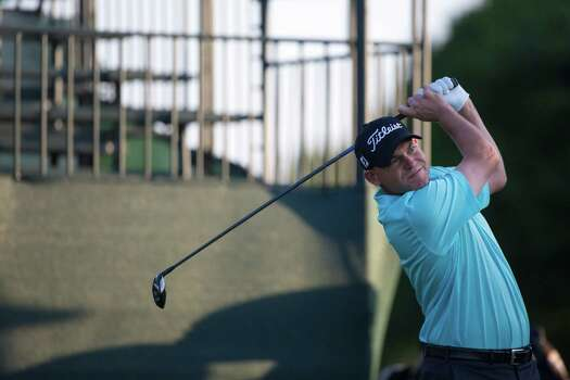Bill Haas of South Carolina tees off on the first hole during the  Shell Houston Open round two at the Golf Club of Houston, Friday, April 4, 2014, in Humble. Photo: Marie D. De Jesus, Houston Chronicle / © 2014 Houston Chronicle