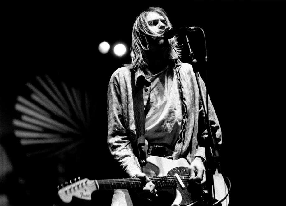 Kurt Cobain performing live onstage at Palasport, Modena, Italy Feb. 21, 1994. Photo: Raffaella Cavalieri, Getty / Redferns