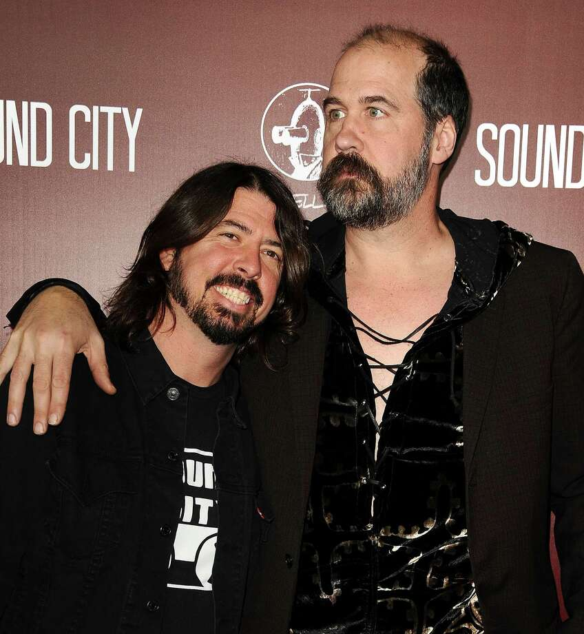 "Dave Grohl and Krist Novoselic of Nirvana attend the premiere of ""Sound City"" at ArcLight Cinemas Cinerama Dome on Jan. 31, 2013 in Hollywood. Photo: Jason LaVeris, Getty / 2013 Jason LaVeris"