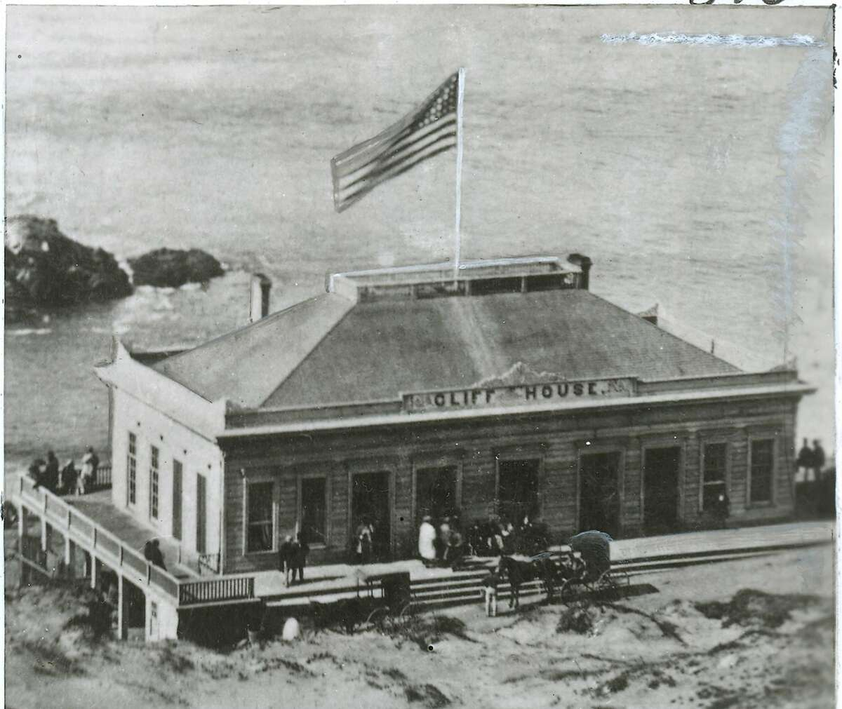 The first Cliff House was a modest structure that opened in 1863. On Christmas Day, 1894, a fire destroyed the building.