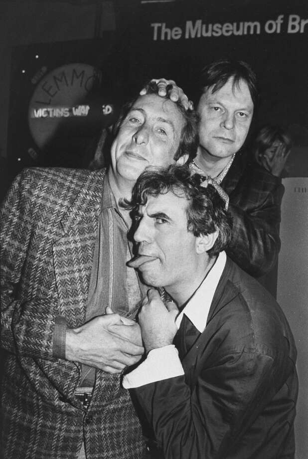 Actors from Monty Python troupe (L-R) Eric Idle, Terry Jones & Terry Gilliam at party celebrating troupe's 20th anniversary, at Hard Rock Cafe. Photo: Robin Platzer, Time & Life Pictures/Getty Image