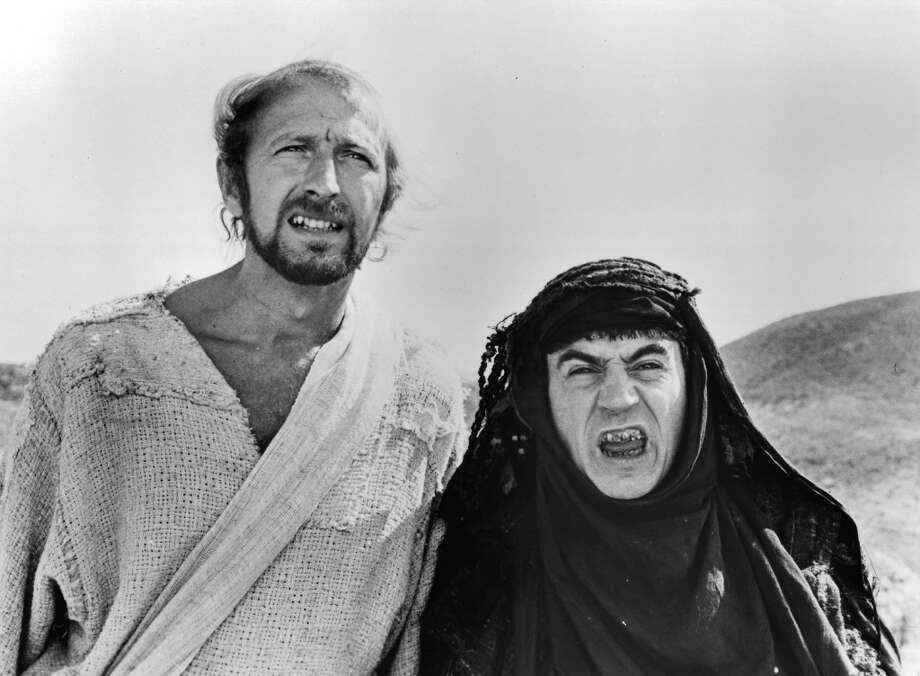 "1975: Graham Chapman and Terry Jones in a scene from the film ""Life Of Brian."" Photo: Michael Ochs Archives, Getty Images"