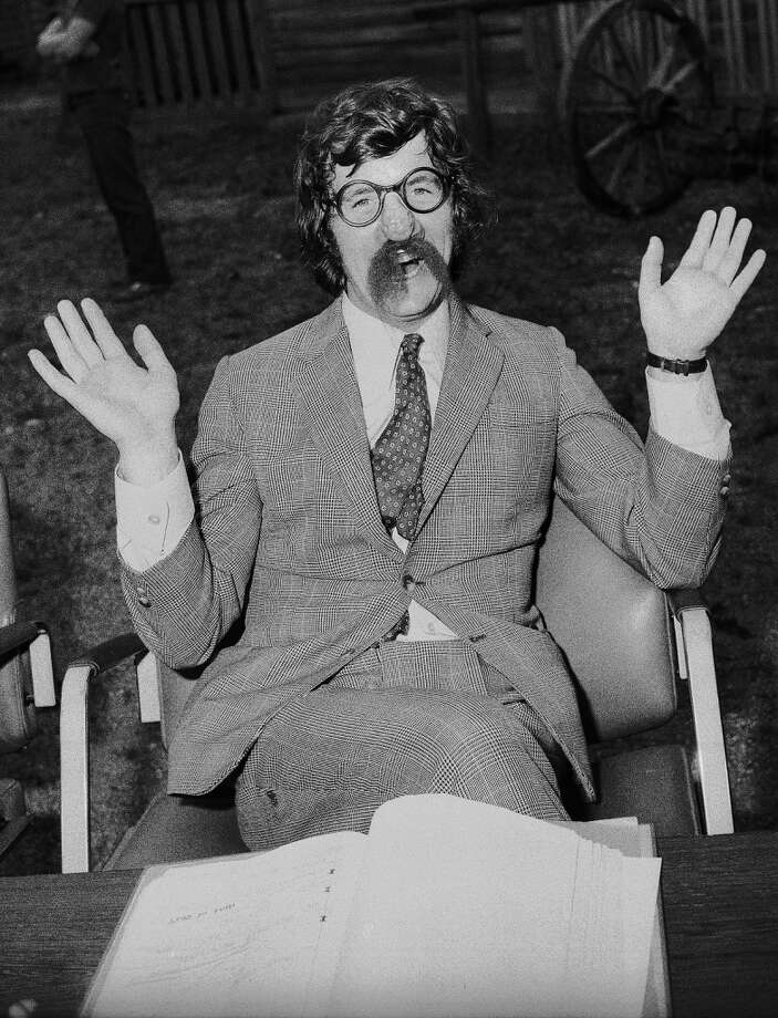 "1971: British actor Michael Palin on the set for  ""Monty Python's Flying Circus."" Photo: Imagno, Getty Images"