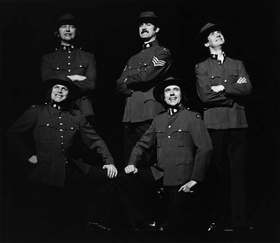 1982: Graham Chapman, John Cleese, Michael Palin, Terry Gilliam, Terry Jones of Monty Python. Photo: Richard E. Aaron, Redferns