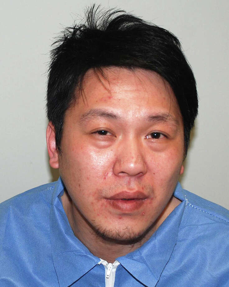 Ya-Tung Liu, 36, visiting his father in Westport with his brother from Taiwan, was charged with second-degree assault after police said he stabbed the brother in the head with scissors during a dispute. Photo: Westport Police Department / Westport News