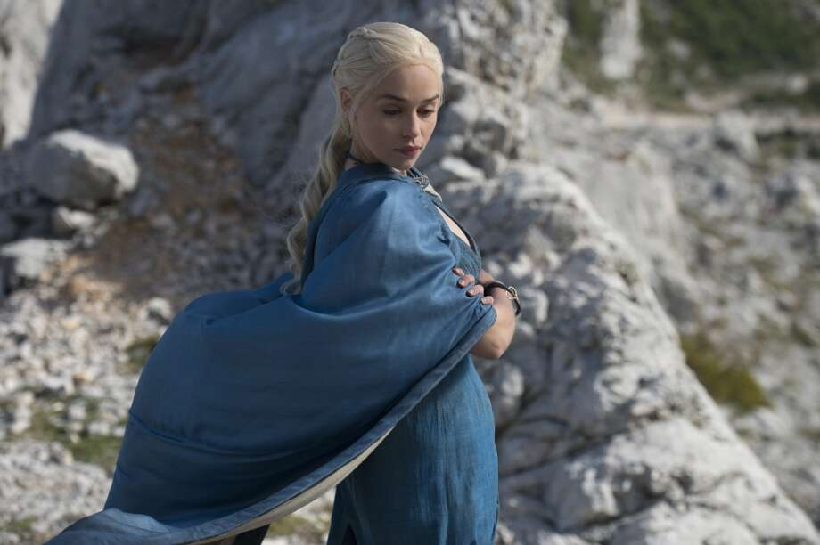 Daenerys Targaryen played by British actress Emilia Clarke.