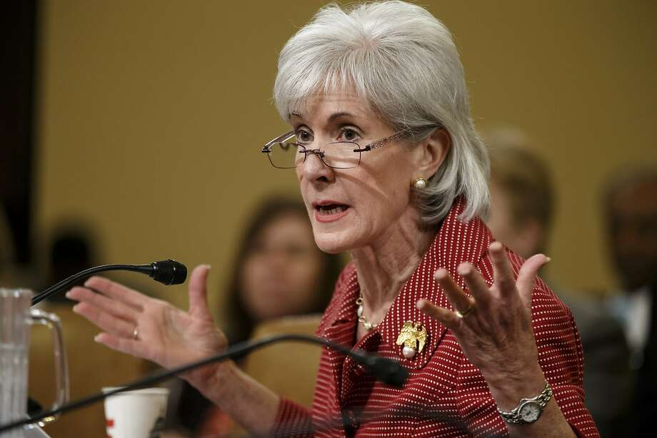 FILE - This March 12, 2014 file photo shows Health and Human Services Secretary Kathleen Sebelius testifying on Capitol Hill in Washington. Three million Americans signed up for Medicaid under President Barack Obama's new health care law as of the end of February, the administration said Friday, offering its first full accounting of how much the safety-net health program has grown since implementation of the law. In a blog, Sebelius said: ?The increase in Medicaid enrollments across the country is encouraging, but more work is left to do to ensure that the millions of uninsured Americans eligible for these programs gain coverage?. (AP Photo/J. Scott Applewhite, File) Photo: J. Scott Applewhite, Associated Press