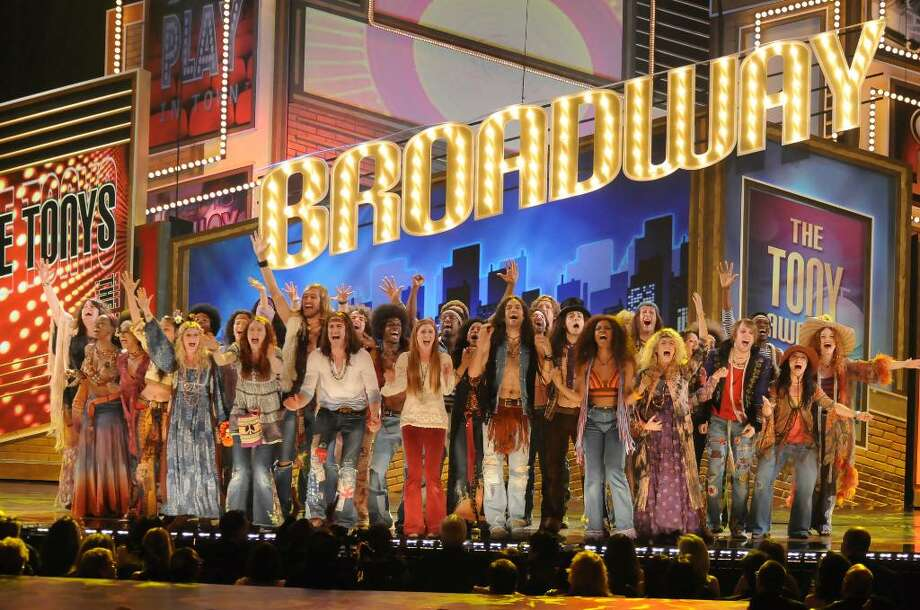 The cast of Hair The Musical is seen performing at the 2009 Tony Awards. Norwalk-based Cableready has landed the international distribution rights to the 2010 Tony Awards on June 13. Photo: Contributed Photo / Stamford Advocate Contributed
