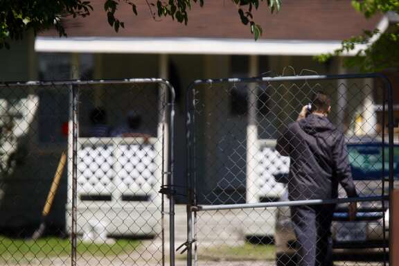 Facing intense pressure from state officials and angry neighbors, a group of civil-commitment sex offenders quietly moved to an unlicensed Acres Homes boarding house is to be moved back to the Beaumont Highway halfway house from where they came, April 4, 2014. (Johnny Hanson / Houston Chronicle)