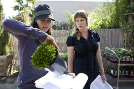 Flora Grubb (right) checks inventory with Sydney Nahay at Flora Grubb Gardens in San Francisco, Calif., on Thursday, September 30, 2010. Last year the business was in danger, but the nursery received help from Pacific Community Ventures, which helps small businesses in lower-income communities.