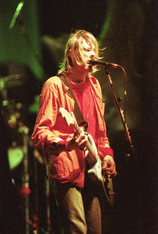 12/06/1993 - Kurt Cobain and Nirvana cruised through an 80-minute show Monday at AstroArena. Photo: D. Fahleson, Houston Chronicle