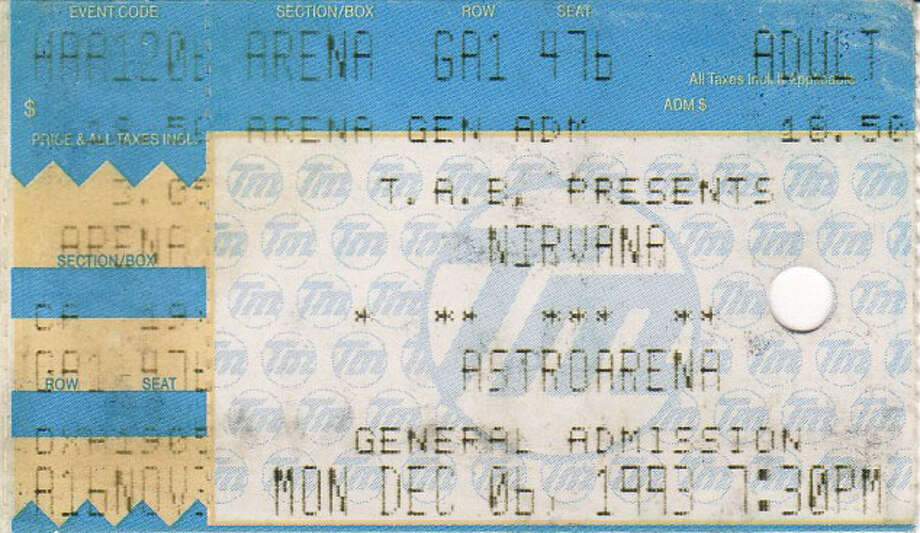 A ticket stub from the show