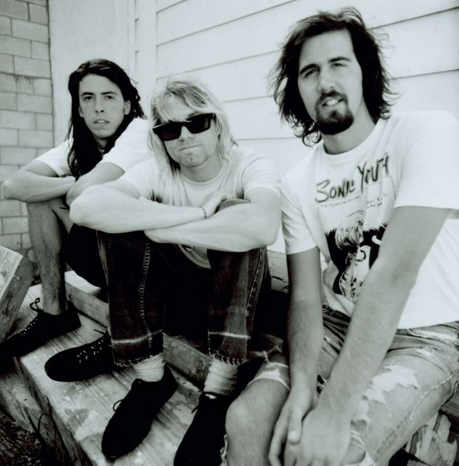 Dave Grohl, Kurt Cobain and Krist Novoselic of Nirvana. Photo: Chris Cuffaro