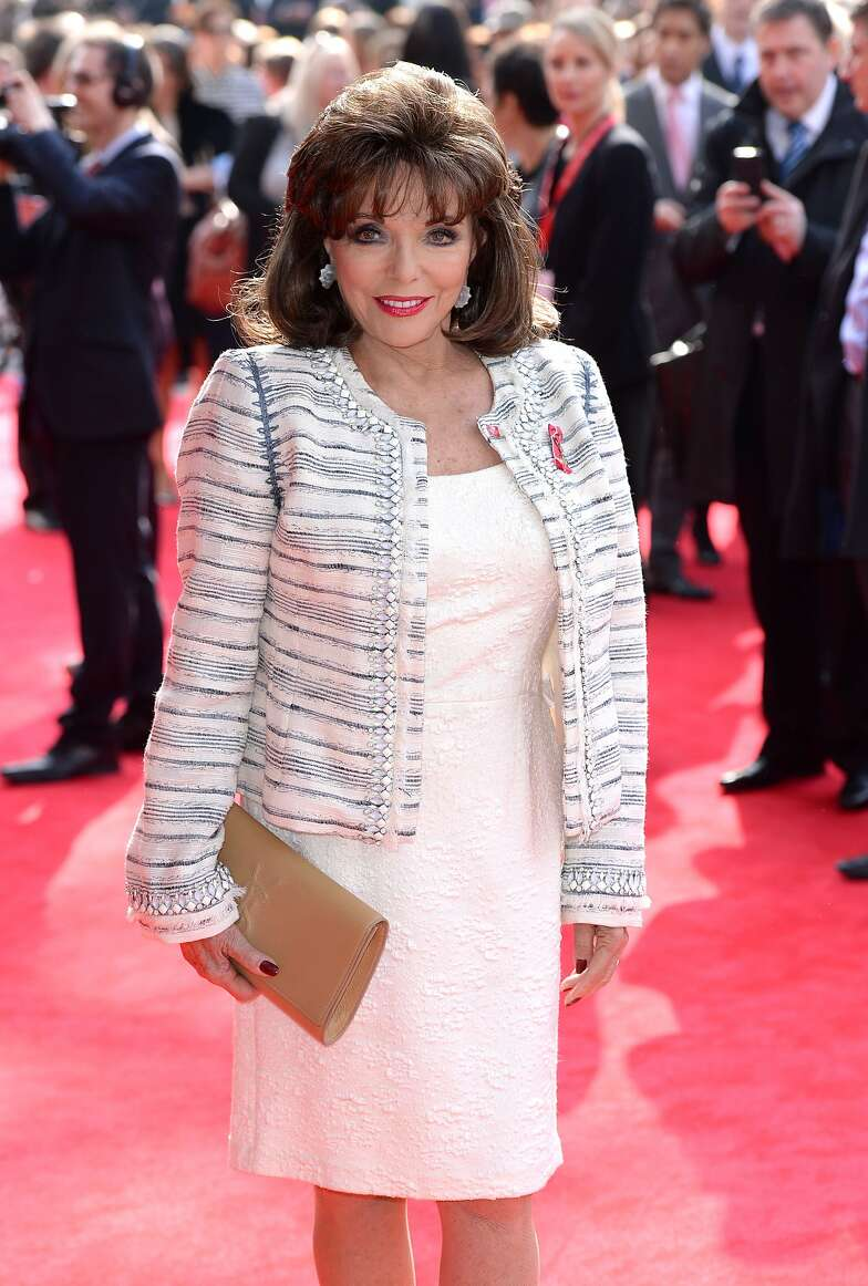 LONDON, ENGLAND - MARCH 12:  Joan Collins attends the Prince's Trust & Samsung Celebrate Success awards at Odeon Leicester Square on March 12, 2014 in London, England.