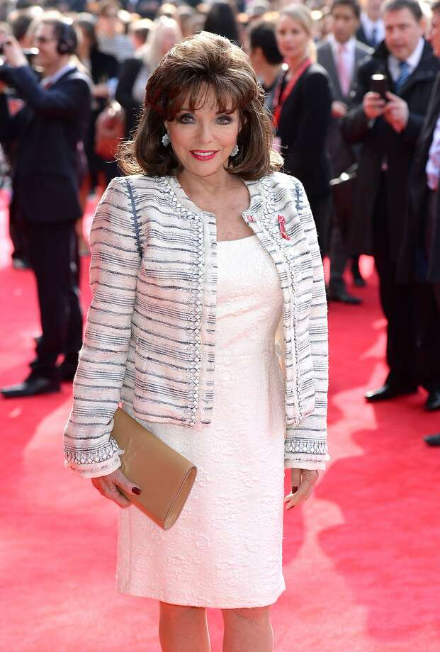 Joan Collins, attending an awards ceremony in London last month, has released a popular line of cosmetics. Photo: Karwai Tang, Getty Images / WireImage
